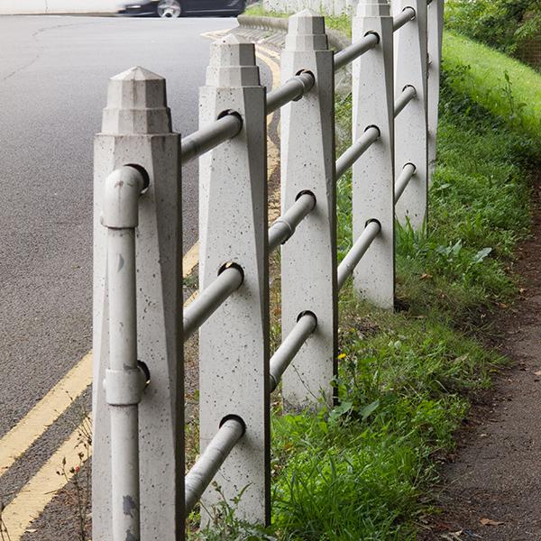 Concrete Pole Barriers : Bollards and barrel posts allen concrete
