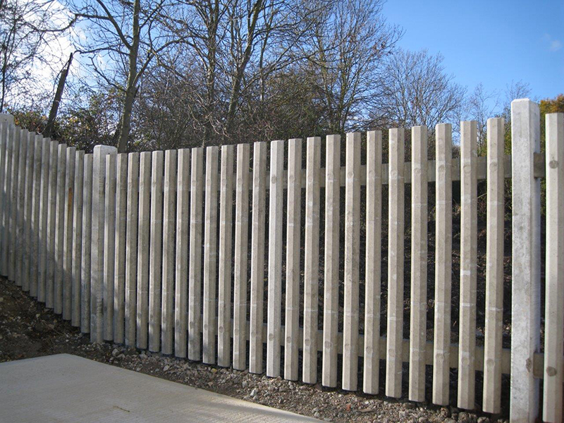 Concrete Palisade Fencing Allen Concrete