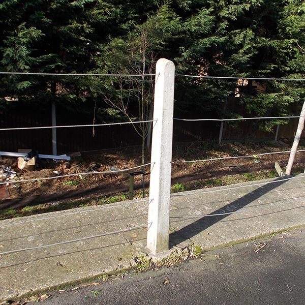 Strained Wire Fence Posts Allen Concrete