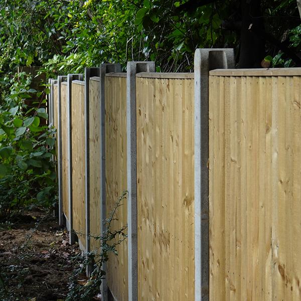Slotted Fence Posts Amp Gravel Boards Allen Concrete
